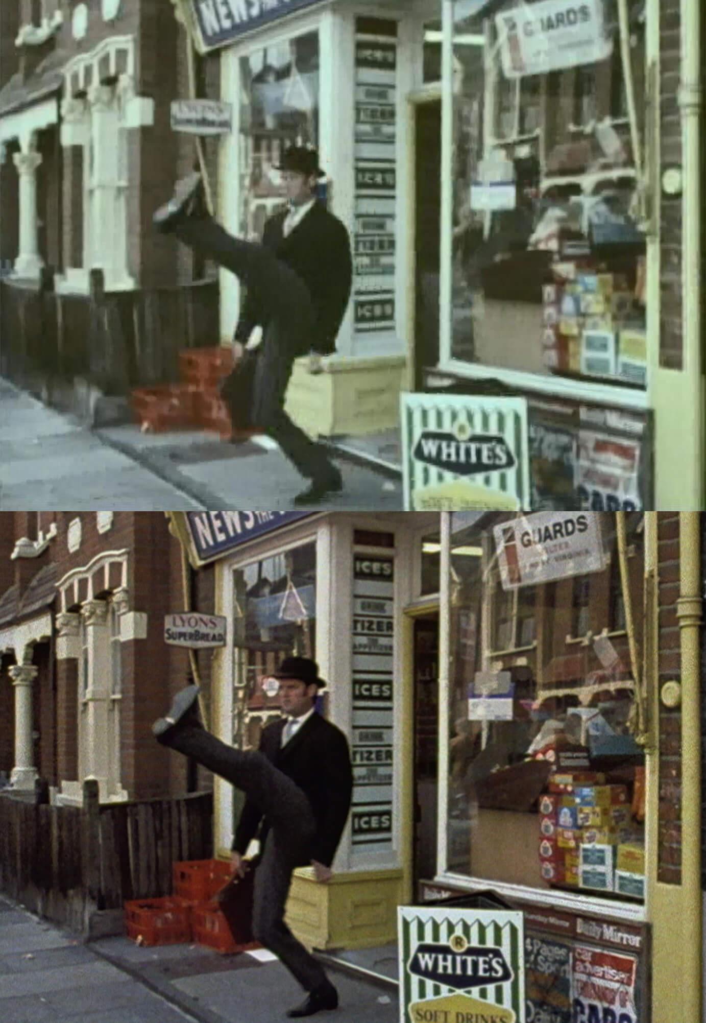 『空飛ぶモンティ・パイソン』Blu-ray BOXの新旧画像比較
