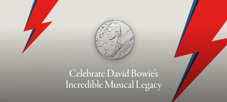 王立造幣局によるデヴィッド・ボウイの記念硬貨