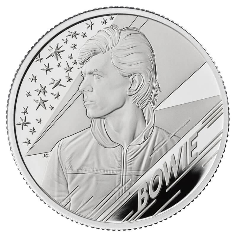 デヴィッド・ボウイ 1ポンド銀貨 1/2オンス