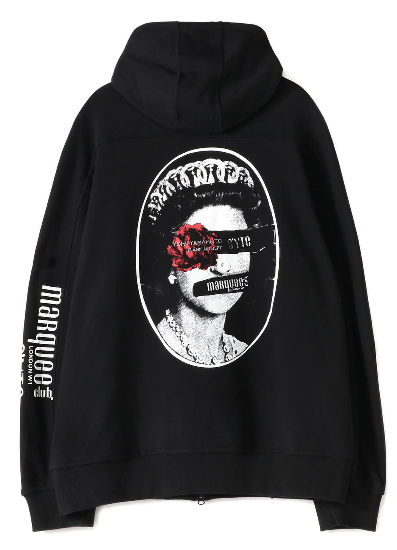 マーキー・クラブ®にSEX PISTOLSが出演していた頃のジャケット・デザインにマーキー・クラブ®ロゴ、S'YTEオリジナルモチーフを施したジップアップフーディー⑤ 16,800円