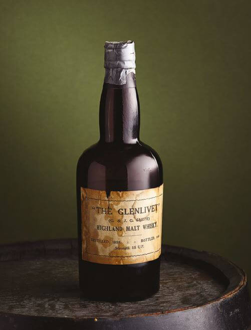 現存している最古の「ザ・グレンリベット」のボトル