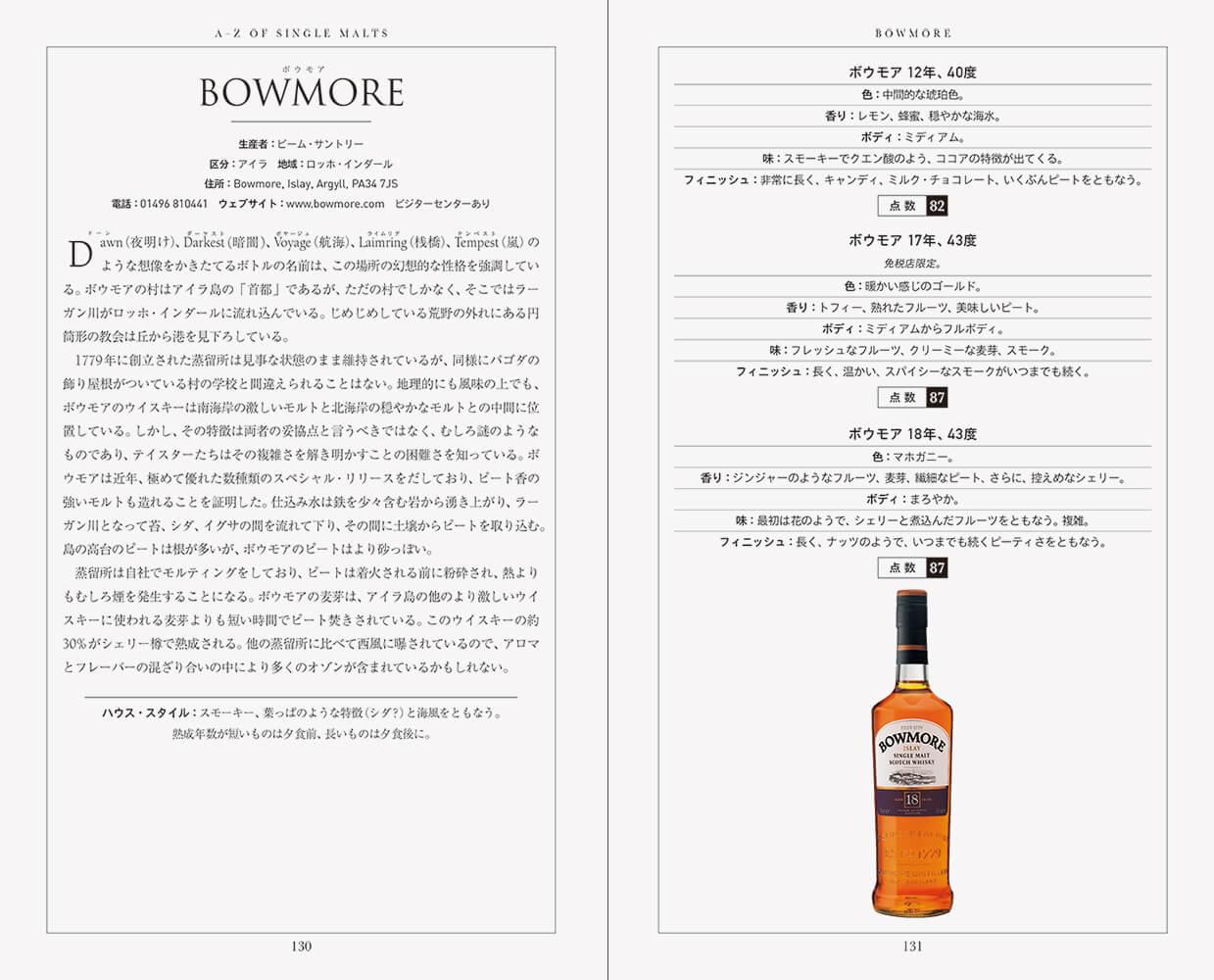 モルトウイスキー・コンパニオン 改訂第7版』中面