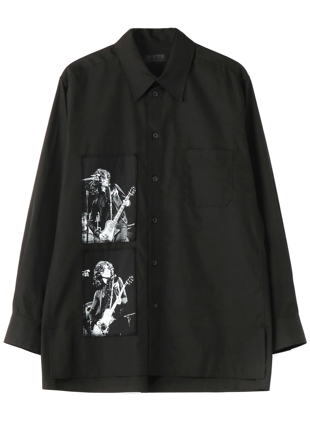 マーキー・クラブ®に出演した頃のLED ZEPPELINのメンバー・フォト、ライブ・フライヤーを組み合わせたシャツ 21,000円