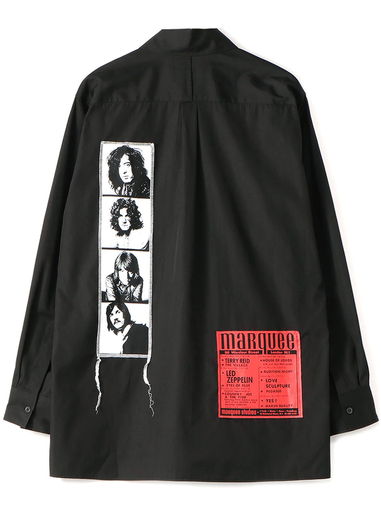 マーキー・クラブに出演した頃のレッド・ツェッペリンのメンバー・フォト、ライヴ・フライヤーを組み合わせたシャツ(Front) 21,000円