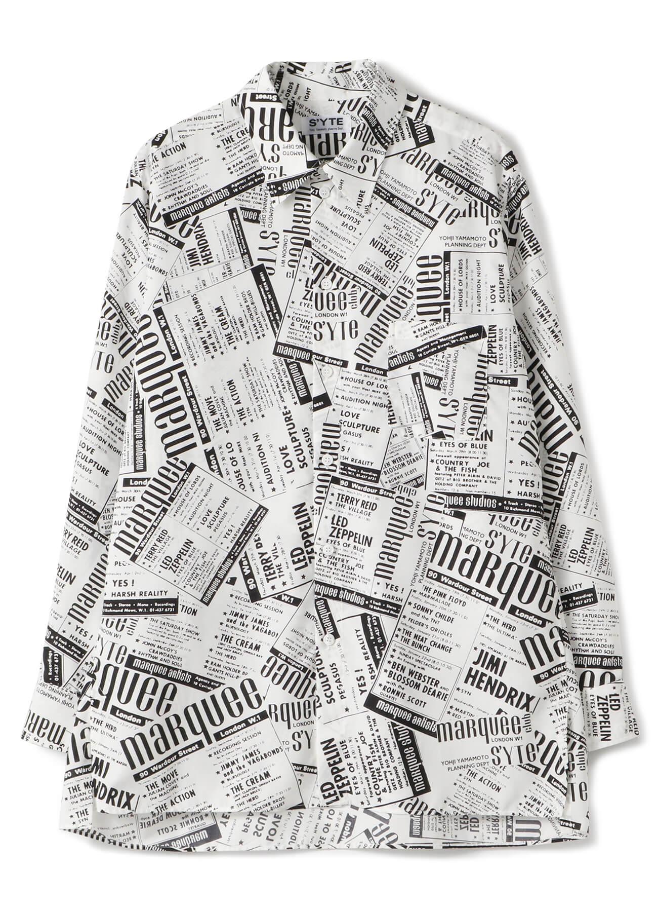 マーキー・クラブ®ライブ・ポスター新聞紙風コラージュシャツ 21,000円