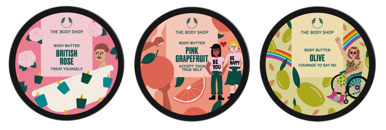 ザボディショップ ボディバター45周年限定エディション ブリティッシュローズ、ピンクグレープフルーツ、オリーブ