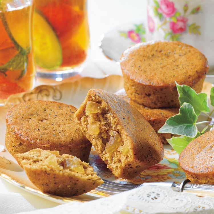 紅茶とりんごのプチケーキ