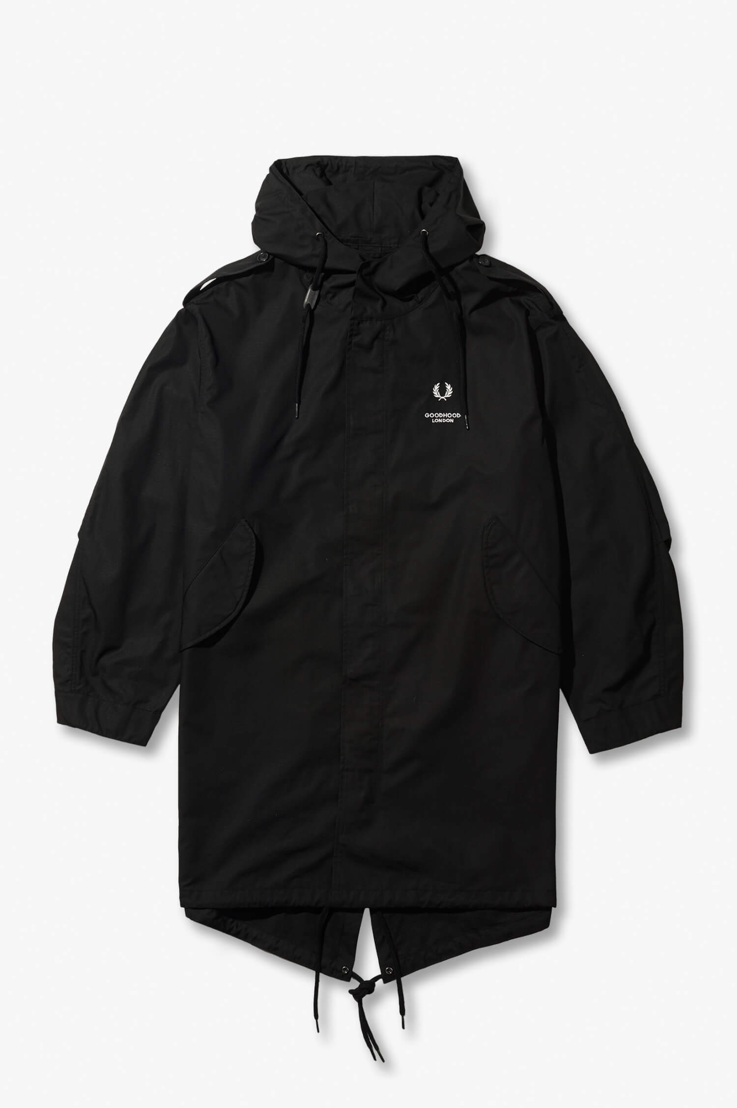 Fred Perry x Goodhoodフィッシュテールパーカ