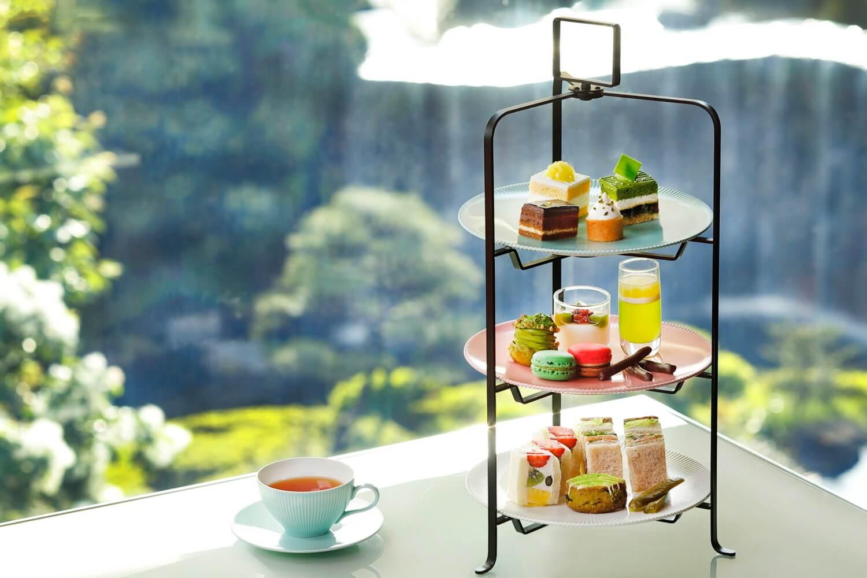 ホテルニューオータニ(東京) ガーデンラウンジ『新アフタヌーンティーセット~抹茶とメロンとチョコレート~』