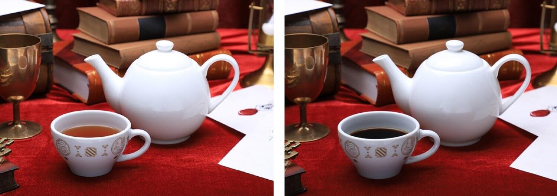 ホットティー、ホットコーヒー