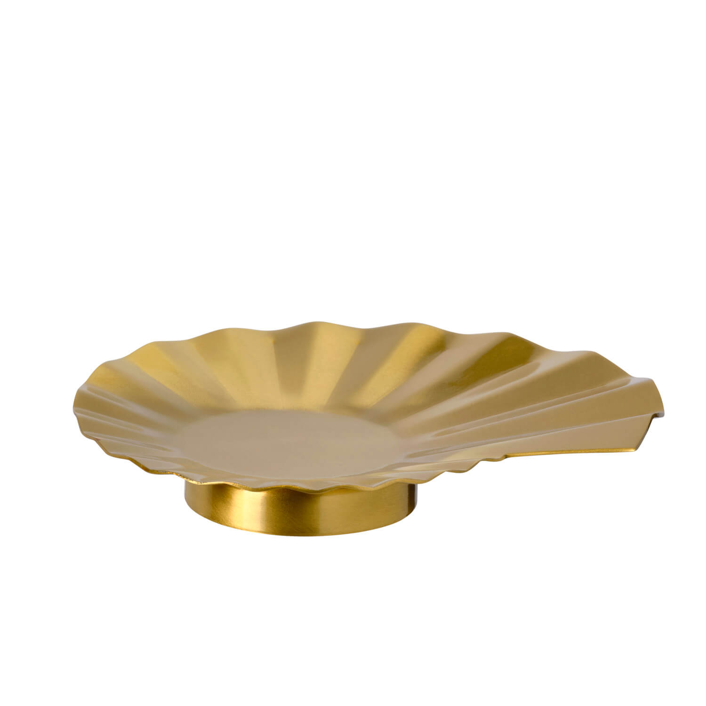 キャンドル皿 ゴールドカラー(799円)