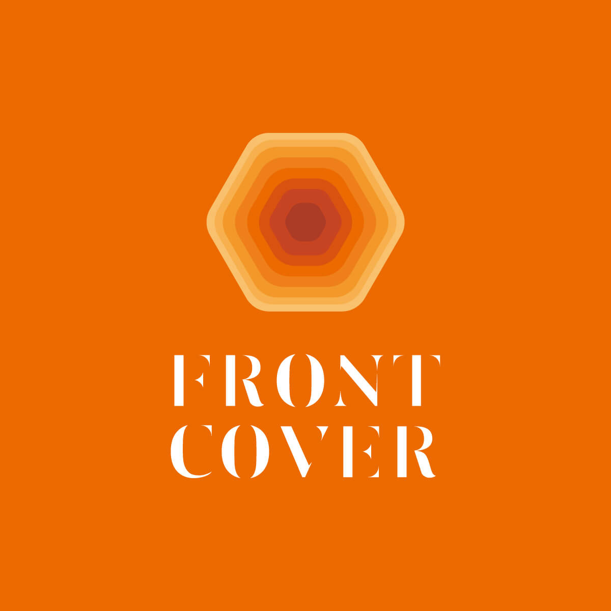 「FRONT COVER」ロゴ