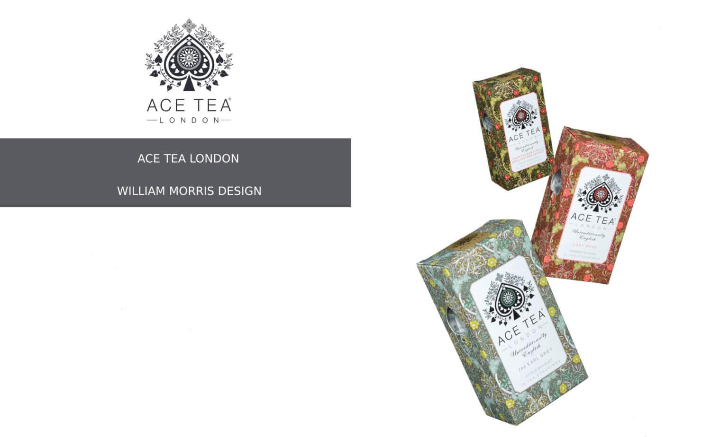 「エースティー ロンドン × ウィリアム・モリス」の限定パッケージ
